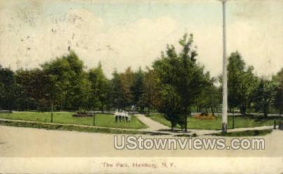 The Park - Hamburg, New York NY Postcard