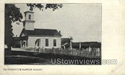 Baptist Church - Harpursville, New York NY Postcard