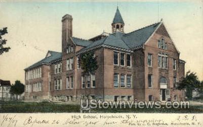 High School - Horseheads, New York NY Postcard