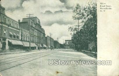 Broad Street - Hornellsville, New York NY Postcard