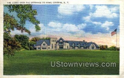The Lodge - Howe Caverns, New York NY Postcard