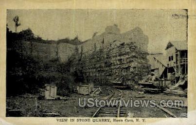 Stone Quarry - Howe Caverns, New York NY Postcard