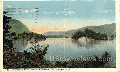 Elephant Mountain - Lake George, New York NY Postcard