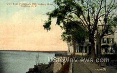 Promenade Hill - Hudson, New York NY Postcard