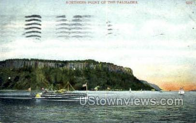 Northern Point - Hudson RIver, New York NY Postcard