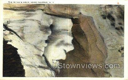 Witch's Head - Howe Caverns, New York NY Postcard