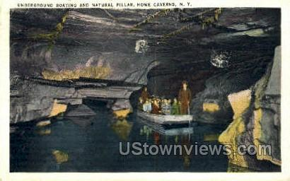 Natural Pillar - Howe Caverns, New York NY Postcard