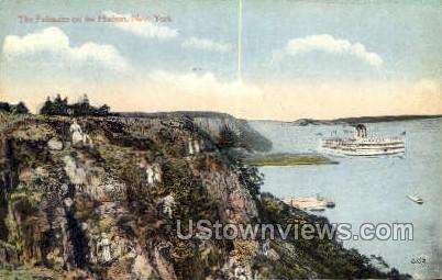 The Palisades - Hudson RIver, New York NY Postcard