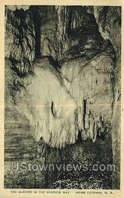 Winding Way - Howe Caverns, New York NY Postcard