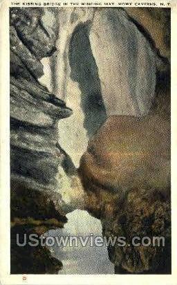 Kissing Bridge - Howe Caverns, New York NY Postcard