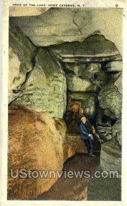 Head of the Lake - Howe Caverns, New York NY Postcard