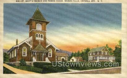 St Mary's Church - Haines Falls, New York NY Postcard