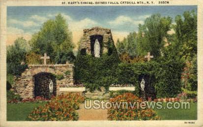 St Mary's Shrine - Haines Falls, New York NY Postcard