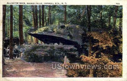 Alligator Rock - Haines Falls, New York NY Postcard