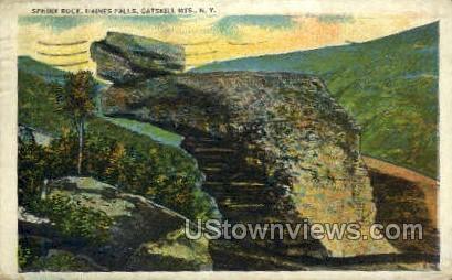 Sphinx Rock - Haines Falls, New York NY Postcard