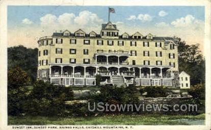 Sunset Inn - Haines Falls, New York NY Postcard