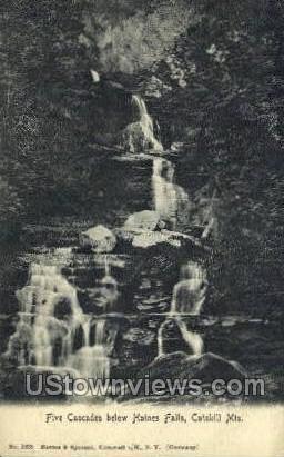 Cascades - Haines Falls, New York NY Postcard