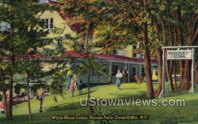 White Horse Lodge - Haines Falls, New York NY Postcard