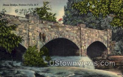 Stone Bridge - Haines Falls, New York NY Postcard