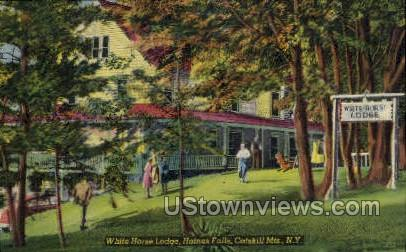 White Horse Lodge - Haines Falls, New York NY Postcard