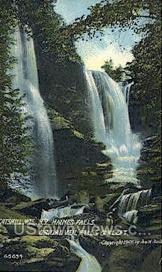 Bridal Veil - Haines Falls, New York NY Postcard