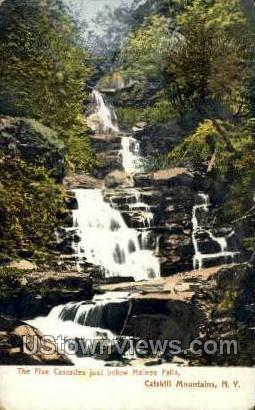 Five Cascades - Haines Falls, New York NY Postcard