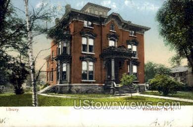 Library - Herkimer, New York NY Postcard