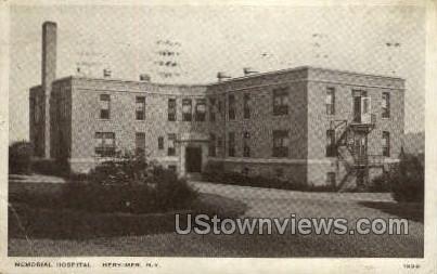 Memorial Hospital - Herkimer, New York NY Postcard