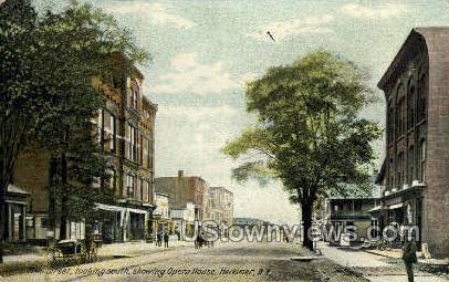 Main Street - Herkimer, New York NY Postcard