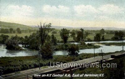 Central R.R. - Herkimer, New York NY Postcard