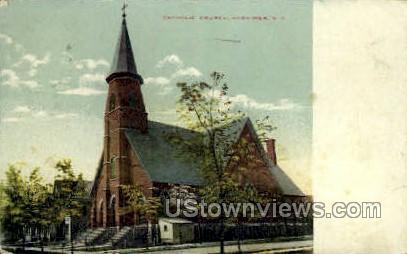 Catholic Church - Herkimer, New York NY Postcard