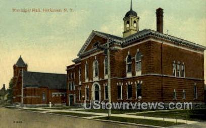 Municipal Hall - Herkimer, New York NY Postcard