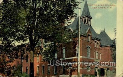 North Side School - Herkimer, New York NY Postcard