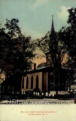 Dutch Reformed Church - Herkimer, New York NY Postcard