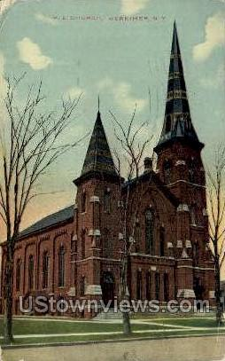M.E. Church - Herkimer, New York NY Postcard