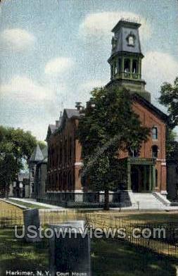 Court House - Herkimer, New York NY Postcard
