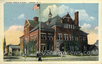 Fourth Street School - Hudson, New York NY Postcard