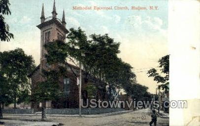 Methodist Episcopal Church - Hudson, New York NY Postcard