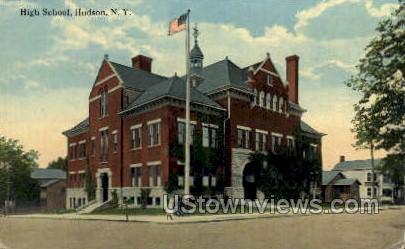 High School - Hudson, New York NY Postcard