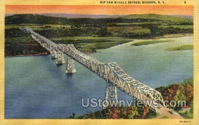 Rip Van Winkle Bridge - Hudson, New York NY Postcard