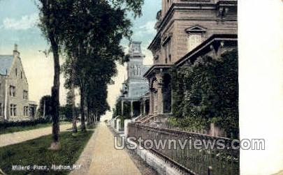 Willard Place - Hudson, New York NY Postcard