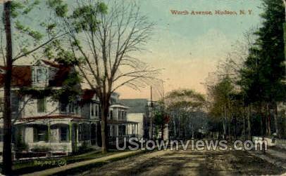 Worth Ave. - Hudson, New York NY Postcard