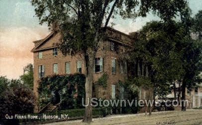 Old Folks Home - Hudson, New York NY Postcard