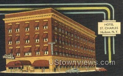 Hotel St. Charles - Hudson, New York NY Postcard