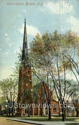Christ Church - Hudson, New York NY Postcard