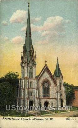 Presbyterian Church - Hudson, New York NY Postcard