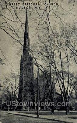 Christ Episcopal Church - Hudson, New York NY Postcard