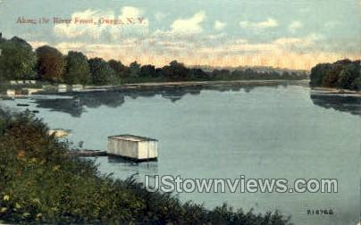 River Front - Hudson RIver, New York NY Postcard