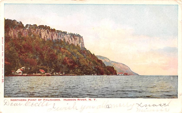Northern Point of Palisades Hudson River, New York Postcard