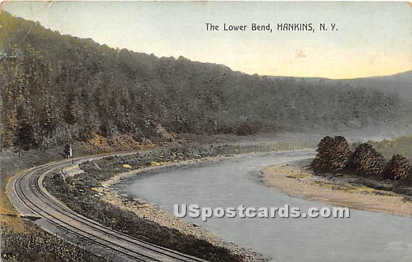 The Lower Bend - Hankins, New York NY Postcard